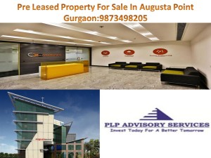 Pre rented property for sale in Augusta point Gurgaon: 9873498205