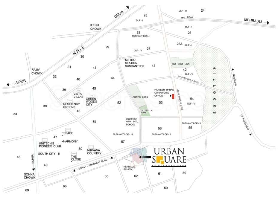 location map pioneer urban square