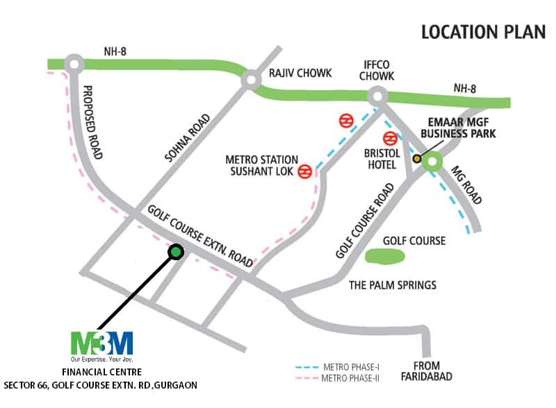 Location-Map-M3M-Financial-Centre