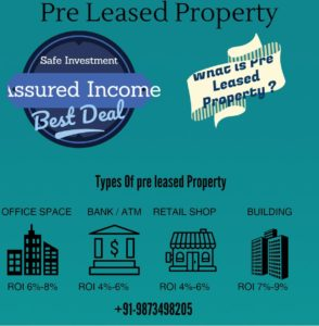 9873498205: pre rented property for sale in Gurgaon – Banks-Offices-Retail